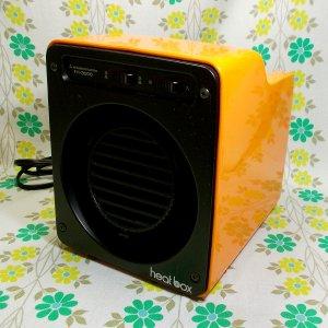レトロポップ 三菱製 電子ファンヒーター heat box オレンジ
