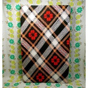 レトロポップ こたつ布団カバー 花柄×格子