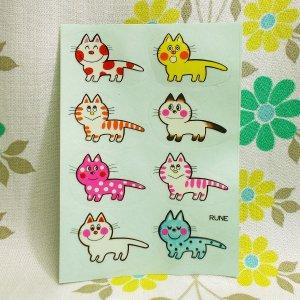 昭和レトロポップ RUNE マイペットシール 猫