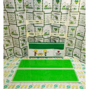 レトロファンシー カンガルーラック キャンバス×スチール吊り棚 グリーン