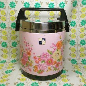 レトロポップ 象印 魔法瓶 保温ジャー 幸 5.4L ピンク花柄