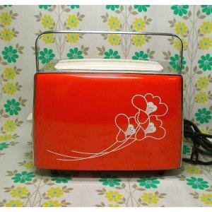 レトロポップ サンヨー製 花柄 自動トースター