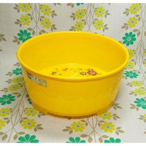 レトロプラスチック 花柄 湯桶