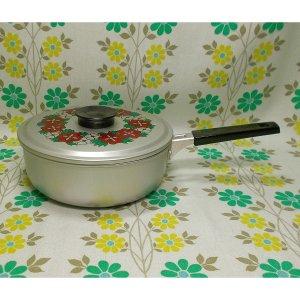 レトロポップ 花柄 アルミ製 片手鍋 17cm