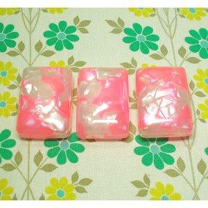昭和レトロ セルロイド ミニケース 石鹸入れ ピンク