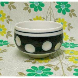 昭和レトロ 陶器製 水玉柄 湯呑み