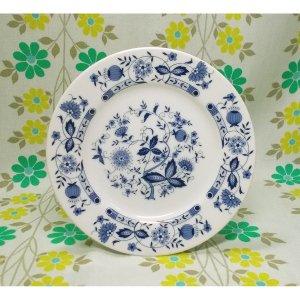 レトロ 陶器製 小皿 ブルーオニオン柄