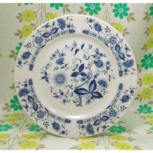 レトロ 陶器製 中皿 ブルーオニオン柄