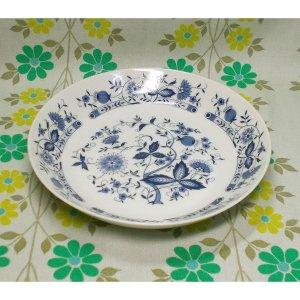 レトロ 陶器製 シチュー皿 ブルーオニオン柄