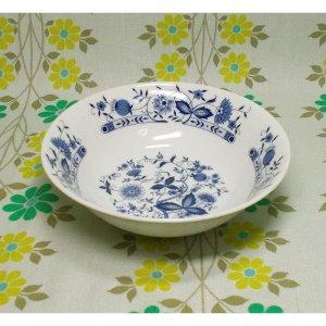 レトロ 陶器製 中鉢 ブルーオニオン柄