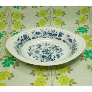 レトロ 陶器製 カレー皿 ブルーオニオン柄