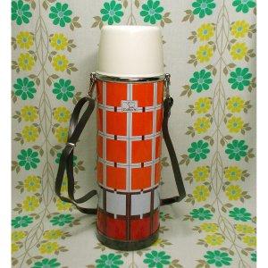 レトロポップ 象印 ニューサーモス 水筒 オレンジチェック 750ml