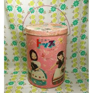 レトロポップ ニュートップ 4.5kg洗剤缶 ポーズ人形
