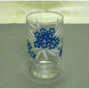 レトロポップ ブルー小花柄 タンブラーグラス スタッキング