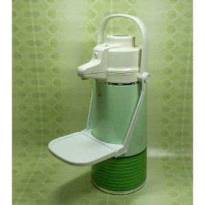 レトロポップ 魔法瓶 エアーポット 受け台付き 2.2L ニューグリーン