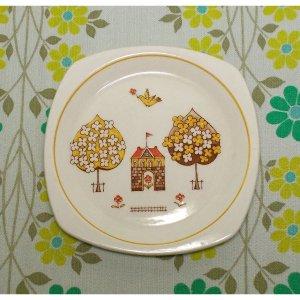 昭和レトロファンシー 陶器製 イラスト 小皿