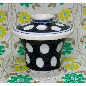昭和レトロ 陶器製 水玉柄 茶碗蒸し