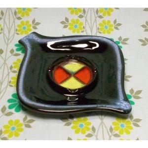 ビンテージ 陶器製 アシュトレイ 灰皿