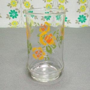 レトロポップ 花柄 タンブラーグラス アデリアローズ