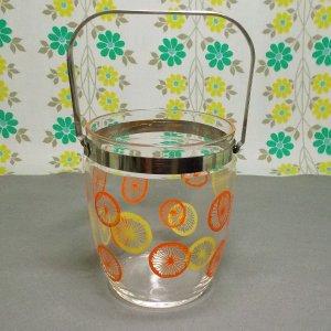 レトロポップ ガラス製 アイスペール レモン輪切り柄
