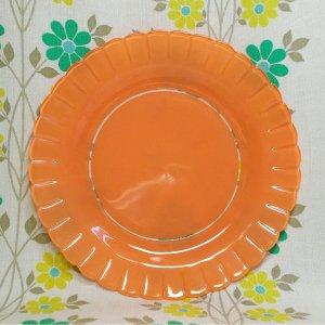 ビンテージ OLD DURALEX フリルプレート オレンジ φ20cm
