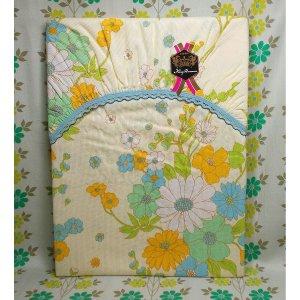 レトロポップ 花柄 シングル用 敷布団カバー