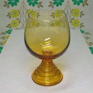 レトロモダン アンバーガラス chum ブランデーグラス