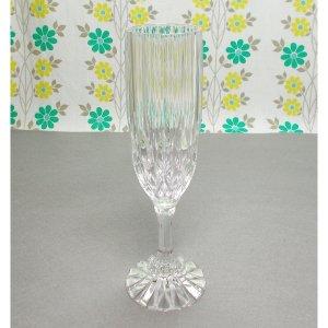 USAビンテージ プレスガラス シャンパングラス