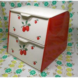 USAビンテージ DECOWARE リンゴ柄 2段ブレッドボックス
