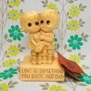 USAビンテージ メッセージドール 「愛とは分かちあうものネ」