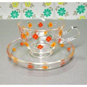 レトロポップ TOSHIKO フローリング花柄 カップ&ソーサー