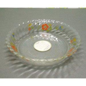 レトロポップ COOK MAMMY 花柄 深皿 耐熱ガラス皿