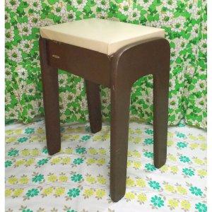 レトロ 木製 ミシンの椅子