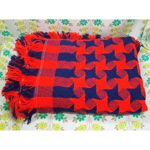 レトロポップ こたつ布団カバー 千鳥格子 赤×紺