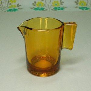レトロポップ アンバーガラス クリーマー