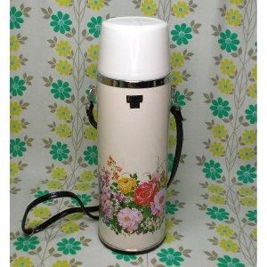 レトロポップ  保温水筒 タイガーボトル ダッシィー 1000ml 薔薇花柄