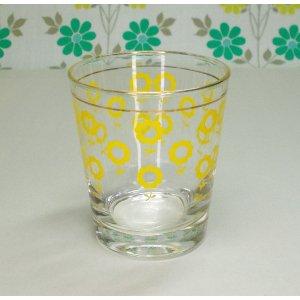 レトロポップ ひまわり柄 タンブラーグラス