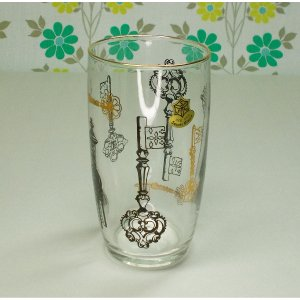 レトロ 鍵柄 タンブラーグラス
