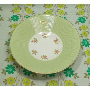 昭和レトロ 陶器製 薔薇花柄 サラダ皿