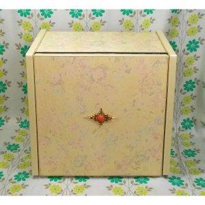 レトロポップ 折り畳み式 卓上 ミニドレッサー 花柄