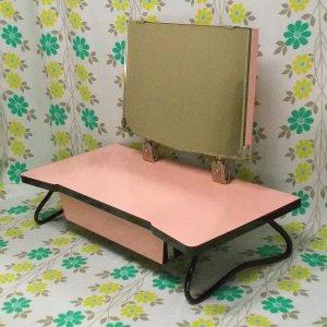 昭和レトロ 脚付き 姫鏡台 ピンク