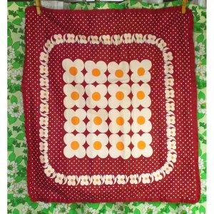 レトロポップ 座布団カバー 花柄