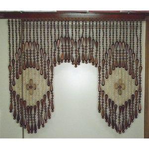 昭和レトロ 木製 珠のれん