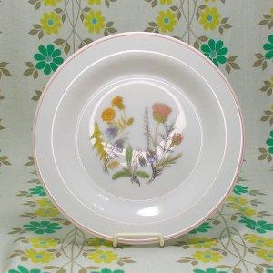 フランスビンテージ arcopal 野の花柄 ケーキプレート φ19cm