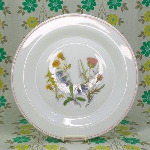 フランスビンテージ arcopal 野の花柄 ディナープレート φ24cm