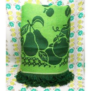 レトロポップ こたつ布団カバー フルーツ柄 グリーン
