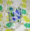 レトログラス 花柄 ブルー×グリーン