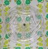 レトロプラスチック 丸トレー プレス模様 クリア 1