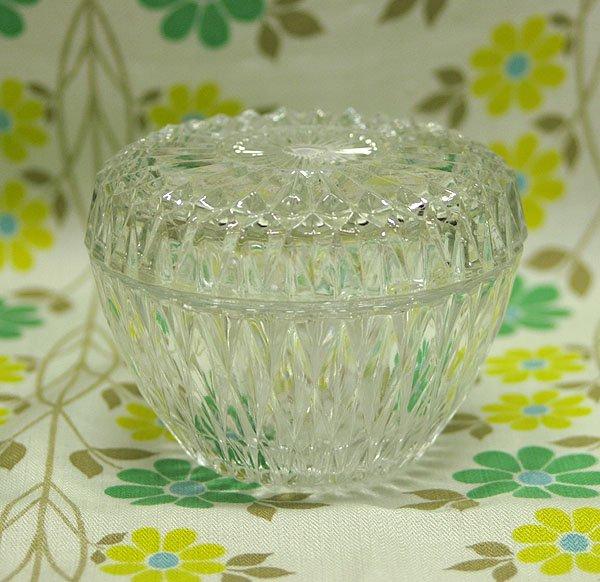 ビンテージ OLD DURALEX プレスガラス シュガーポット