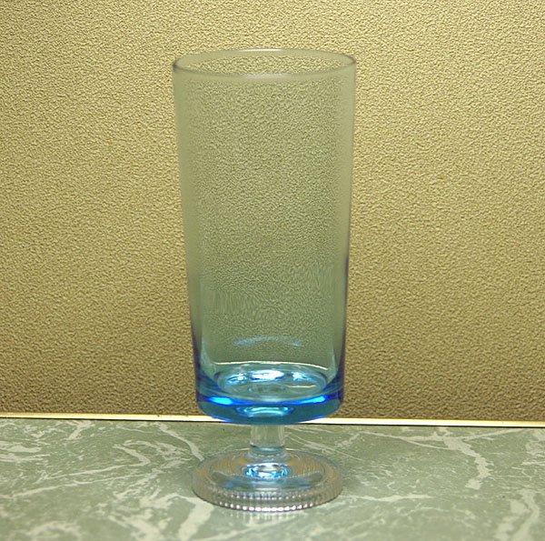 レトロ ブルーガラス 足付きグラス